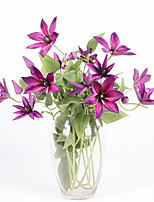 3 Head/Branch High Simulation Clematis Fine Home Decoration Artificial Flowers