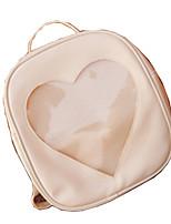 Women Shoulder Bag PU All Seasons Casual Square Zipper Zipper Violet Blushing Pink Purple Black White