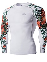 Cycling Jersey Men's Long Sleeve Bike Tops Breathable Comfortable Sports Exercise & Fitness