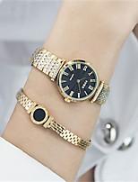 Damen Modeuhr Armband-Uhr Japanisch Quartz Wasserdicht Legierung Band Luxuriös Silber