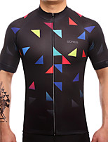 חולצת ג'רסי לרכיבה לגברים שרוול קצר אופניים ג'רזי ייבוש מהיר נושם תומך זיעה Coolmax LYCRA® קלאסי קיץ