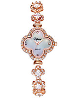 Femme Montre Tendance Quartz Alliage Bande Etincelant Charme Or Rose