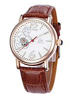 Women's Fashion Watch Mechanical Watch Quartz Automatic self-winding Leather Band Black Brown Pink