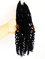 Black senegaltwist braids with curly end kanekalon twist hair extension synthetic braiding hair