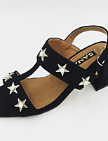Women's Heels Basic Pump PU Summer Fall Casual Basic Pump Chunky Heel Khaki Black 2in-2 3/4in