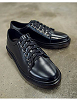 Men's Sneakers Cowhide Spring Black Flat