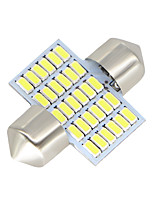 2x-feston-31mm-30-smd-3014-conduit blanc-voiture-dôme-lampe-ampoules-3021-6428-de3175 12-24v
