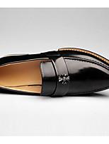 Men's Sneakers Comfort Cowhide Spring Casual Black Brown Burgundy Flat