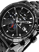 Men's Fashion Watch Mechanical Watch Automatic self-winding Calendar Water Resistant / Water Proof Alloy Band Black Silver
