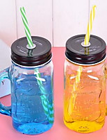 1pc per Set Casual/Daily Drinkware 400ml Glass Water Daily Drinkware