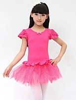 Ballet Kid's Cotton Bowknot 1 Piece Dress