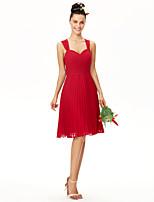 LAN TING BRIDE Ke kolenům Šaty pro družičky - Otevřená záda Elegantní Bez rukávů Šifón