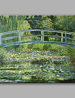 Handgemalte Landschaft Horizontal,Zeitgenössisch Klassisch & Zeitlos Ein Panel Leinwand Hang-Ölgemälde For Haus Dekoration