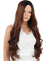 MAYSU Hot sale   Perfect  Black Brown Hair  Front lace Synthetic Wig      Woman hair