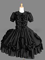 One-Piece/Dress Sweet Lolita Lolita Cosplay Lolita Dress Vintage Cap Short Sleeve Short / Mini Dress For