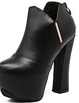 Femme Chaussures à Talons Polyuréthane Printemps Noir Plat
