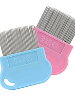 Cat Dog Grooming Comb Waterproof Blue Blushing Pink