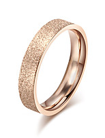 Women's Ring Band Rings Simple Elegant Rose Gold Titanium Steel Ring Jewelry For Wedding Party Anniversary Daily1