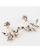 Ohrstecker Imitation Diamant Einzigartiges Design Blumen Stil Geometrisch Modisch individualisiert Hypoallergen Klassisch Feder Aleación