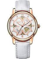 Women's Fashion Watch Japanese Quartz Water Resistant / Water Proof Leather Band White Red Brown Pink