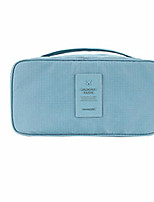 Trousse de Toilette Etanche Durable pour Rangement de Voyage Polyester-Marron Bleu Rose Rouge foncé Bleu clair
