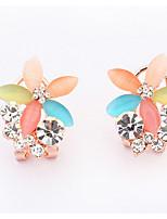 Ohrstecker Tropfen-Ohrringe Kreolen Opal StrassBasis Einzigartiges Design Logo Stil Blumen Stil Freundschaft bezaubernd USA