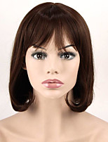 Popular Brown Color Short Wave Synthetic Wigs Cosplay For Afro European Women