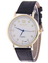 Women's Fashion Watch Quartz PU Band Black Brown