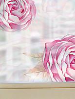Floral Contemporâneo Adesivo de Janela,PVC/Vinil Material Decoração de janela
