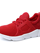 Women's Athletic Shoes Spring Comfort Tulle Casual Flat Heel Red Black White