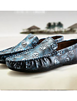 Men's Loafers & Slip-Ons Comfort Cowhide Spring Casual Gold Gray Light Blue Flat
