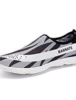 Для мужчин Мокасины и Свитер Светодиодные подошвы Пара обуви Тюль Весна Лето Для прогулок Для занятий спортом Для прогулокНа плоской
