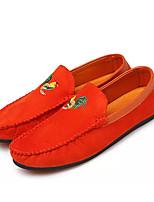 Men's Loafers & Slip-Ons Moccasin PU Spring Summer Outdoor Moccasin Flat Heel Black Ruby Blue Under 1in