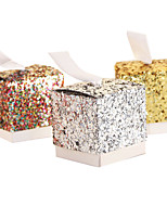 25pcs Glitter Diamonds Color Wedding Box Candy Box Sheet Metal Wedding Favors Gift Box Wedding Decoration(shunshine candy box)