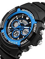 SANDA Homme Montre de Sport Montre Militaire Smart Watch Montre Tendance Montre Bracelet Japonais NumériqueLED Double Fuseaux Horaires