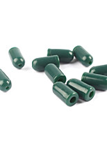 Anmuka 100pcs Green Color Rubber Buffer Beads Knot Protector for Carp Fishing Hair Rig Making