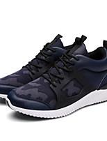 Men's Sneakers Comfort Synthetic Spring Casual Black Navy Blue Burgundy Flat