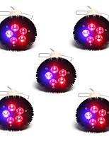 15W E26/E27 LED Grow Lights PAR38 5SMD 800lm Red Blue 630nm460nm AC85-265V 5 pcs