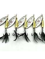 5 pcs Señuelos duros Cebos de Giro y Zumbido Cucharas Cebo metálico g/Onza mm pulgadaPesca de baitcasting Pesca de agua dulce Pesca de