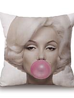 1 Pcs Retro Marilyn Monroe Printing Pillow Cover Classic Square Pillow Case Cotton/Linen Cushion Cover
