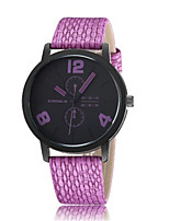 Women's Fashion Watch Quartz PU Band Sparkle Charm Black White Blue Purple