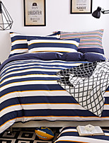 4 pcs Bedding Set Cotton Bed Linens Stripe Eco-friendly Printed Duvet Cover