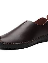 Men's Loafers & Slip-Ons Comfort Leatherette Spring Casual Comfort Black Brown Screen Color Flat