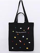 Women Shoulder Bag Canvas All Seasons Casual Shopper Zipper Blushing Pink Black White
