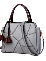 Women Tote PU All Seasons Formal Casual Event/Party Wedding Office & Career Shell Zipper Purple Gray Blushing Pink Ruby Black
