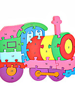 Jigsaw Puzzles DIY KIT Building Blocks DIY Toys Train Wooden