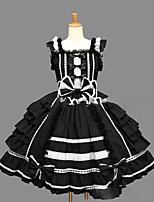 Einteilig/Kleid Niedlich Lolita Cosplay Lolita Kleider Vintage Kappe Ärmellos Kurz / Mini Kleid Zum