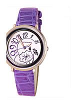 Жен. Модные часы Китайский Кварцевый Кожа Группа Повседневная Синий Фиолетовый
