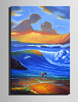 Mini Size E-HOME Oil painting Modern Great Maternal Love Pure Hand Draw Frameless Decorative Painting