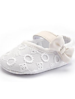 Baby Kids' Loafers & Slip-Ons First Walkers Fabric Summer Fall Party & Evening Dress Casual Bowknot Stitching Lace Flat HeelBlushing Pink Red